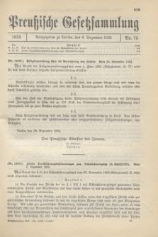 Preußische Gesetzsammlung. 1933, Nr. 76 (6 Dezember)