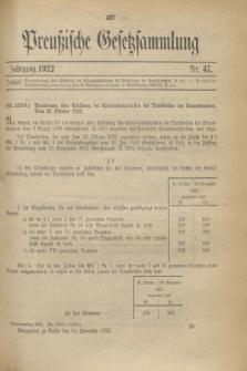 Preußische Gesetzsammlung. 1922, Nr. 47 (13 November)
