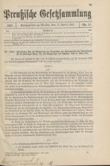 Preußische Gesetzsammlung. 1931, Nr. 14 (17 April)