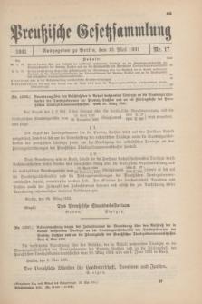 Preußische Gesetzsammlung. 1931, Nr. 17 (13 Mai)