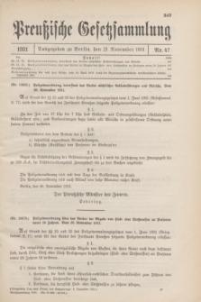 Preußische Gesetzsammlung. 1931, Nr. 47 (21 November)