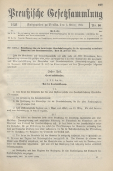 Preußische Gesetzsammlung. 1934, Nr. 10 (3 März)
