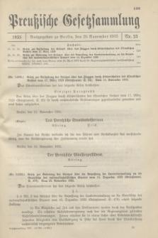 Preußische Gesetzsammlung. 1935, Nr. 25 (29 November)