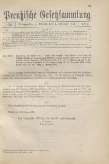 Preußische Gesetzsammlung. 1932, Nr. 9 (4 Februar)