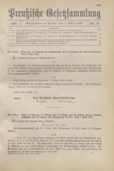 Preußische Gesetzsammlung. 1932, Nr. 22 (9 April)