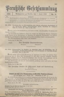 Preußische Gesetzsammlung. 1932, Nr. 30 (1 Juni)