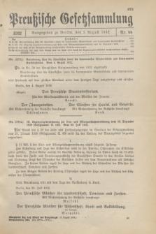 Preußische Gesetzsammlung. 1932, Nr. 44 (5 August)
