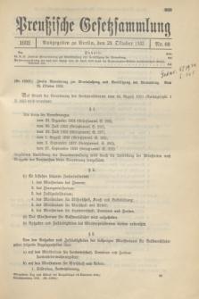 Preußische Gesetzsammlung. 1932, Nr. 60 (29 Oktober)