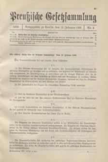 Preußische Gesetzsammlung. 1936, Nr. 5 (12 Februar)