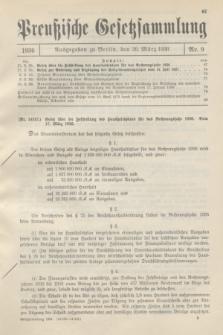 Preußische Gesetzsammlung. 1936, Nr. 9 (20 März)