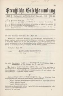 Preußische Gesetzsammlung. 1937, Nr. 18 (6 November)