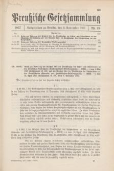 Preußische Gesetzsammlung. 1937, Nr. 19 (9 November)