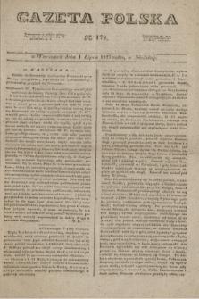 Gazeta Polska. 1827, N. 178 (1 lipca)