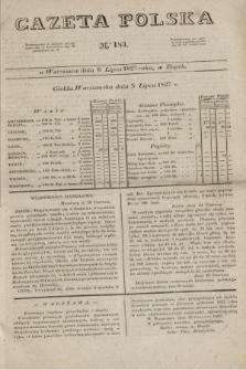 Gazeta Polska. 1827, N. 183 (6 lipca)