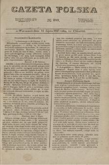 Gazeta Polska. 1827, N. 189 (12 lipca)