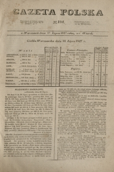 Gazeta Polska. 1827, N. 194 (17 lipca)