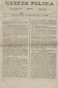 Gazeta Polska. 1827, N. 195 (18 lipca)