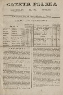 Gazeta Polska. 1827, N. 197 (20 lipca)