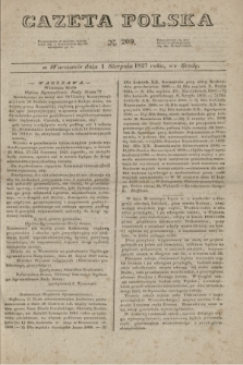 Gazeta Polska. 1827, N. 209 (1 sierpnia)