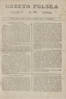 Gazeta Polska. 1827, N. 210 (2 sierpnia)