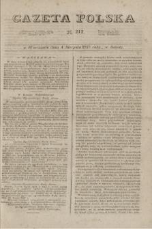 Gazeta Polska. 1827, N. 212 (4 sierpnia)