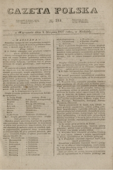 Gazeta Polska. 1827, N. 213 (5 sierpnia)