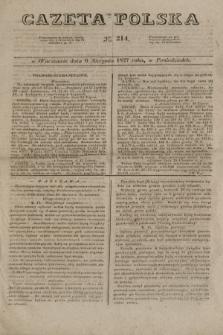 Gazeta Polska. 1827, N. 214 (6 sierpnia)