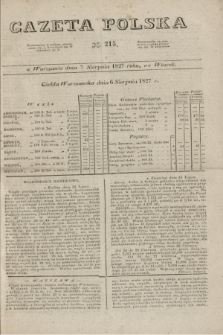 Gazeta Polska. 1827, N. 215 (7 sierpnia)