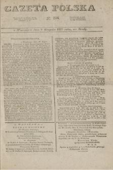 Gazeta Polska. 1827, N. 216 (8 sierpnia)