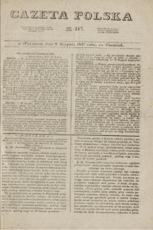 Gazeta Polska. 1827, N. 217 (9 sierpnia)