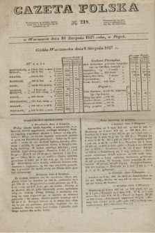 Gazeta Polska. 1827, N. 218 (10 sierpnia)