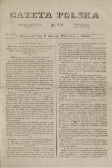 Gazeta Polska. 1827, N. 219 (11 sierpnia)
