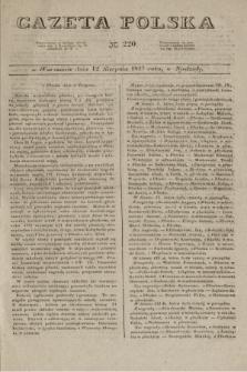 Gazeta Polska. 1827, N. 220 (12 sierpnia)