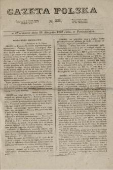 Gazeta Polska. 1827, N. 221 (13 sierpnia)