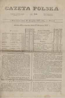 Gazeta Polska. 1827, N. 236 (28 sierpnia)