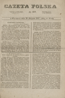 Gazeta Polska. 1827, N. 237 (29 sierpnia)