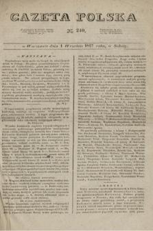 Gazeta Polska. 1827, N. 240 (1 września)