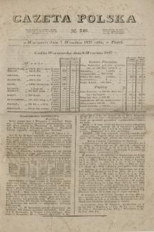 Gazeta Polska. 1827, N. 246 (7 września)