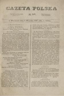 Gazeta Polska. 1827, N. 247 (8 września)