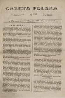 Gazeta Polska. 1827, N. 252 (13 września)