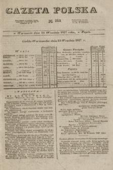 Gazeta Polska. 1827, N. 253 (14 września)