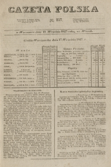 Gazeta Polska. 1827, N. 257 (18 września)