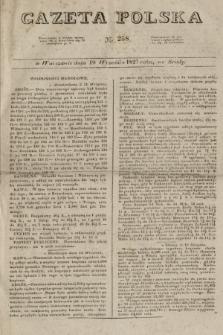 Gazeta Polska. 1827, N. 258 (19 września)