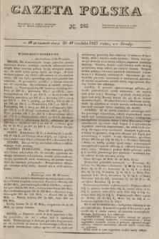 Gazeta Polska. 1827, N. 265 (26 września)