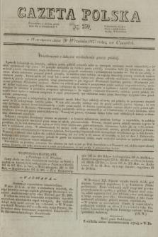 Gazeta Polska. 1827, N. 259 (20 września) [wyd. drugie]