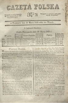 Gazeta Polska. 1828, № 71 (11 marca)