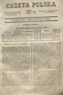 Gazeta Polska. 1828, № 74 (14 marca)