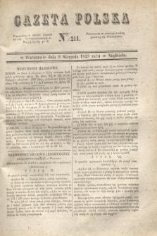 Gazeta Polska. 1829, Nro 211 (9 sierpnia)