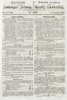 Amtsblatt zur Lemberger Zeitung = Dziennik Urzędowy do Gazety Lwowskiej. 1860, nr141