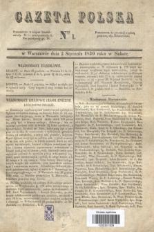 Gazeta Polska. 1830, Nro 1 (2 stycznia)